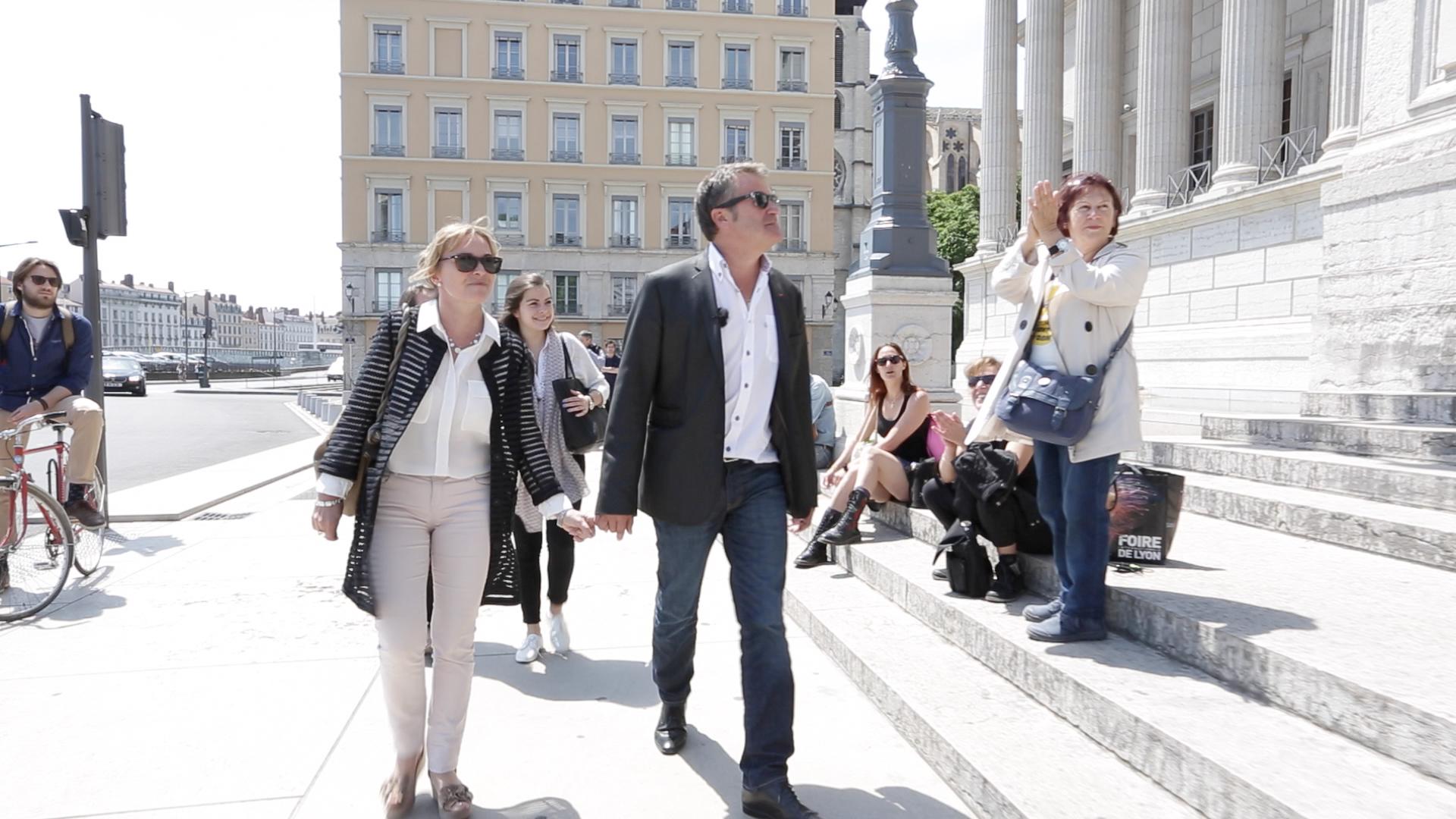 Paul François et sa femme Palais de justice