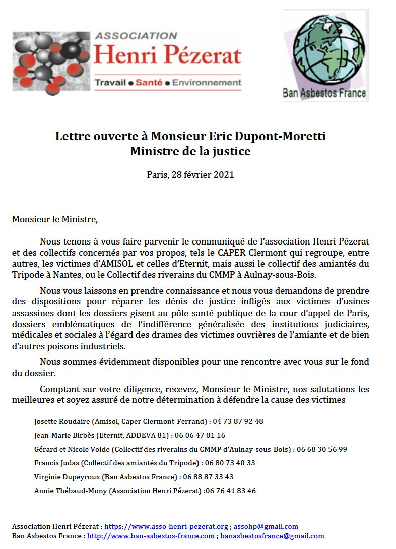 lettre ouverte dupont moretti